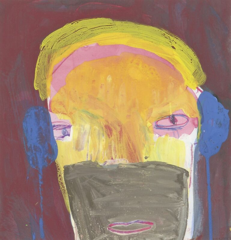 <strong>2c. 79B, 1197, gouache, aquarel, kleurpotlood op papier, 25x24 cm</strong>