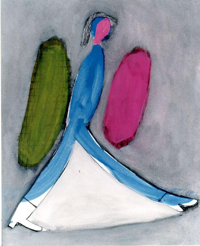 <strong>2d. 82B, 1997, gouache, inkt op papier, 28x23 cm <div class=verkocht>VERKOCHT</div></strong>