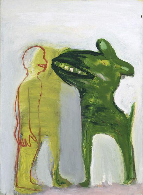 <strong>3c. Tweehonderdzevenenvijftig, 2003, olieverf op linnen, 110x85 cm</strong>