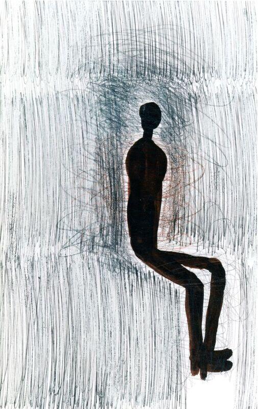 <strong>5b. 39E, 1997, gouache, inkt, krijt op papier, 46x29 cm</strong>