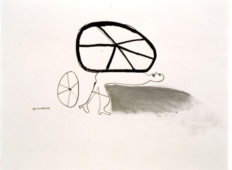 <strong>6e. 204E, 1999, inkt en pastelkrijt op papier, 50x65 cm</strong>