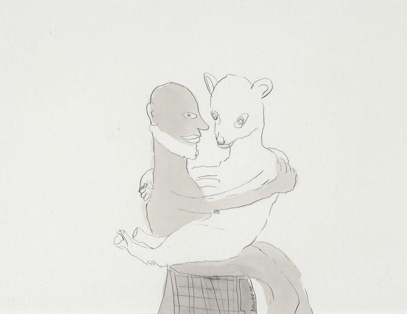 <strong>7b. 257A, 2002, gewassen inkt op papier, 19x25 cm</strong>