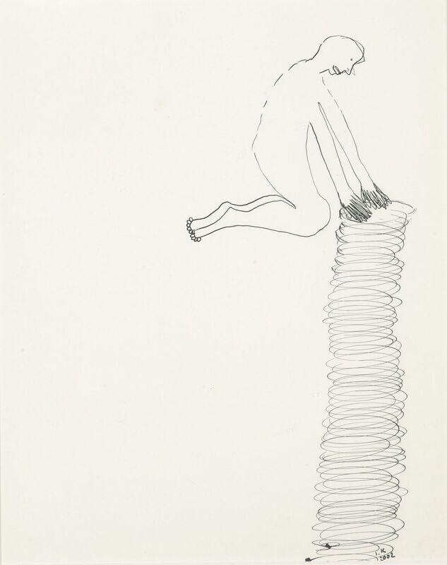 <strong>7e. 261A, 2002, O.I.inkt op papier, 30x21 cm <div class=verkocht>VERKOCHT</div></strong>