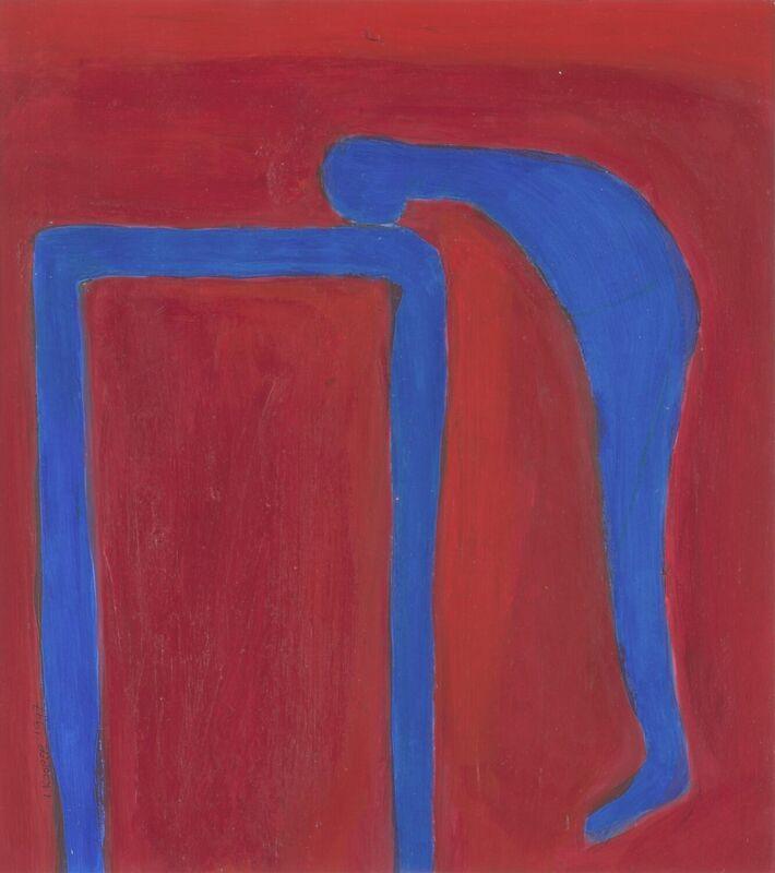 <strong>2a. 100B, 1997, gouache, acryl op papier, 24x25 cm <div class=verkocht>VERKOCHT</div></strong>