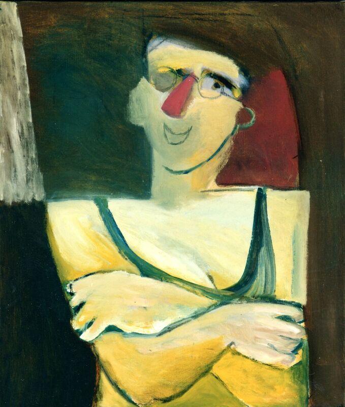 <strong>3d. Nummer negen,1993, olieverf en grafiet op linnen, 70x60 cm <div class=verkocht>VERKOCHT</div></strong>