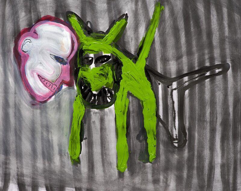 <strong>5a. 414G, 2009, houtskool, acryl op papier, 43x54 cm</strong>
