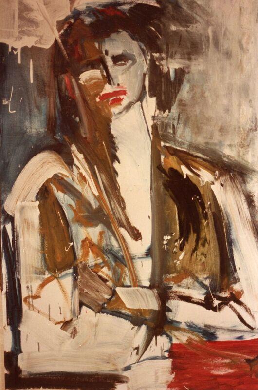 <strong>6b. Betty I nr. 116, 1984, olieverf op papier, 110x75 cm <div class=verkocht>VERKOCHT</div></strong>